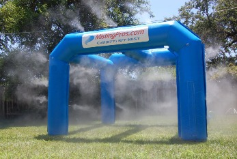Ice chest misting fan rental